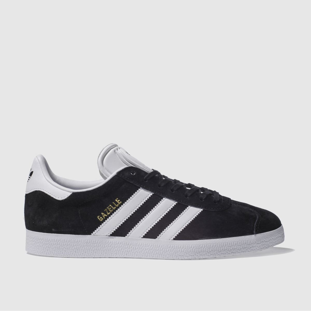 Adidas Gazelle Mens Black And White Trainers, Size: 7